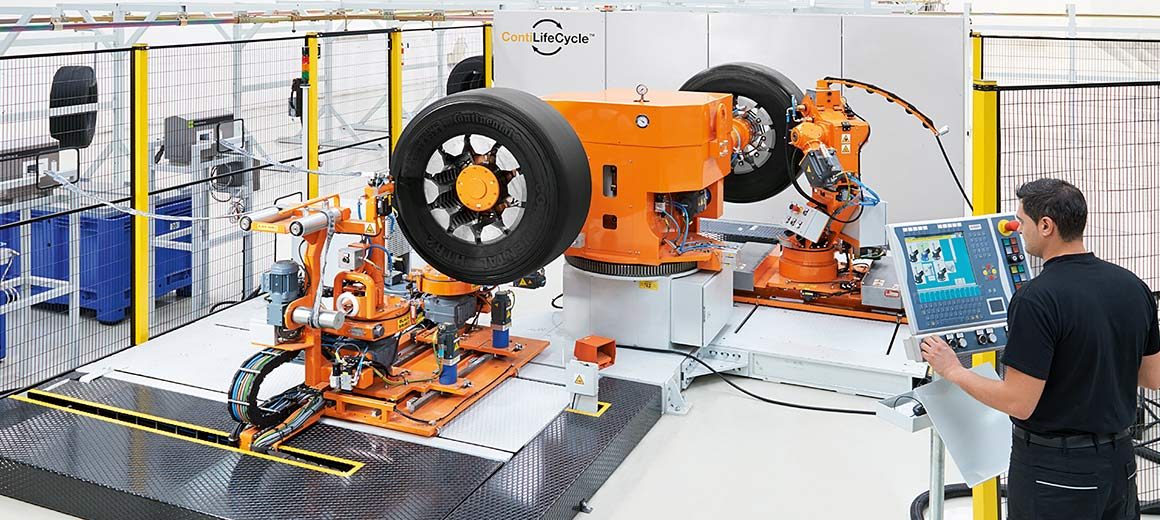 PC-based control and OPC UA form the basis for Continental's Industrie 4.0-compliant truck and bus tire plant. © Continental Reifen Deutschland GmbH ContiLifeCycle™