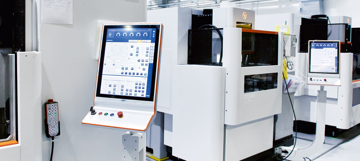 TwinCAT CNC optimizes wire electric discharge machines in terms of flexibility, intellectual property protection and reduced engineering effort.duzierten Engineeringaufwand. © GF Machining Solutions