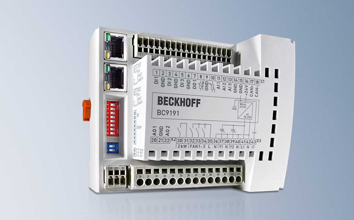 The compact room controller is modularly extendable.