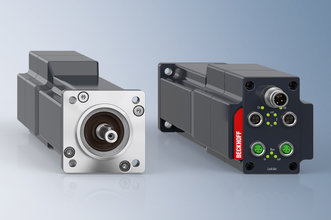 The integrated servo drive AMI812x combines servo motor, servo amplifier and fieldbus connection in a space-saving design for all motion requirements in the power range up to 400 Watt.