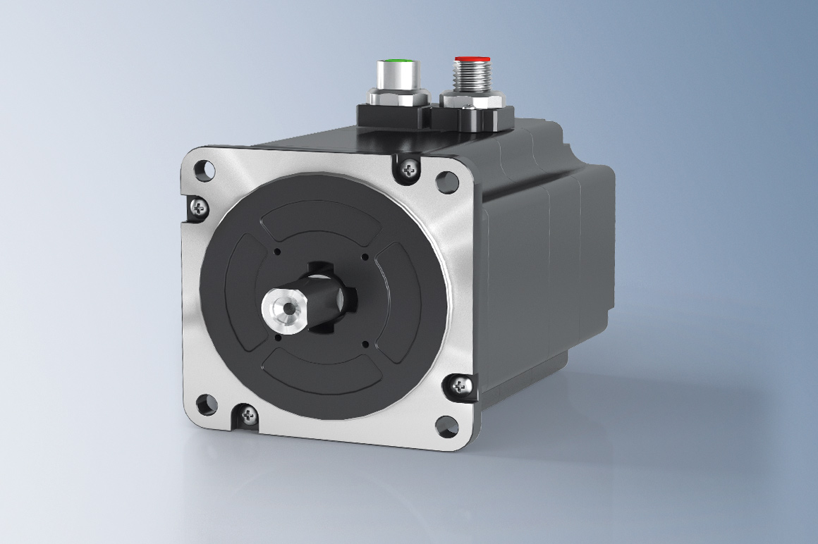 Stepper motors are synchronous motors with a very high number of poles; they are characterized by high holding torque and very good positioning capability.