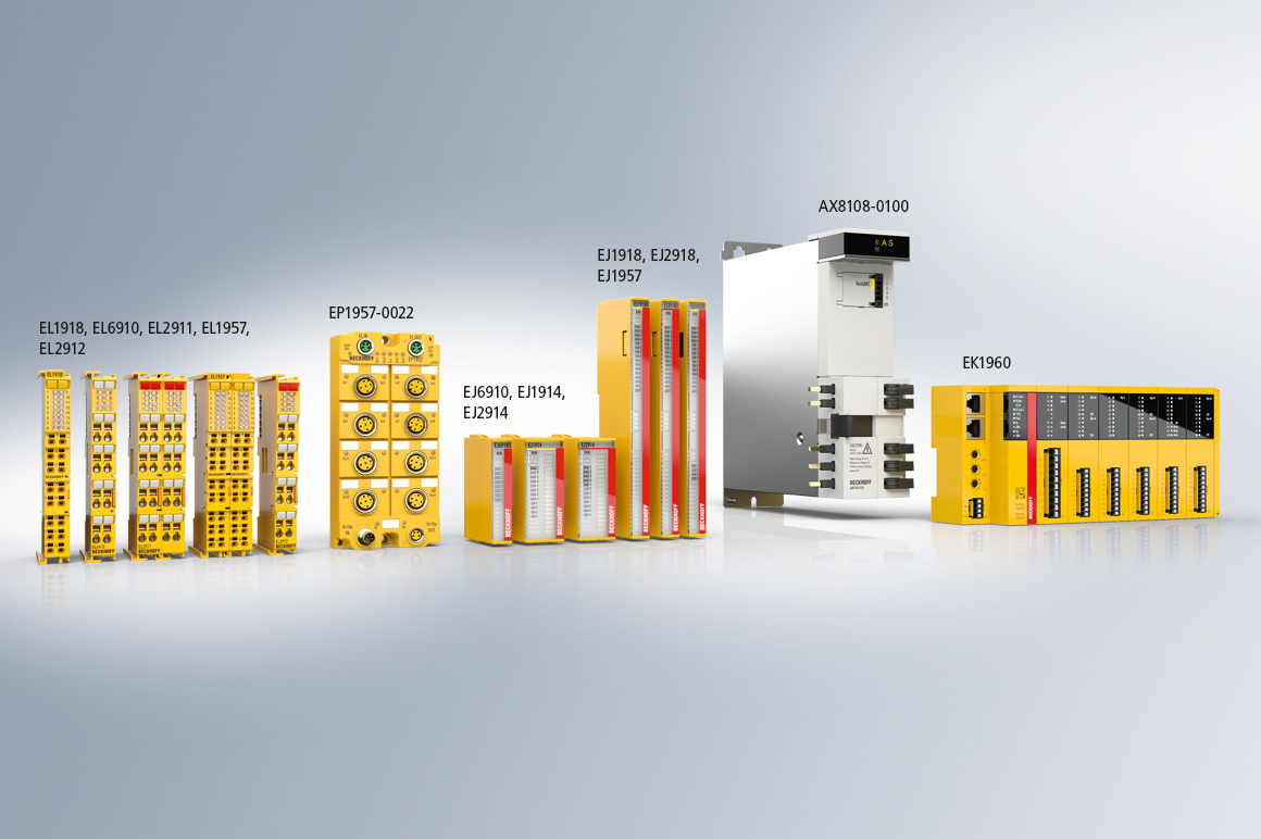 With a wide range of TwinSAFE logic-capable components, Beckhoff offers complete freedom in the design of the safety architecture.