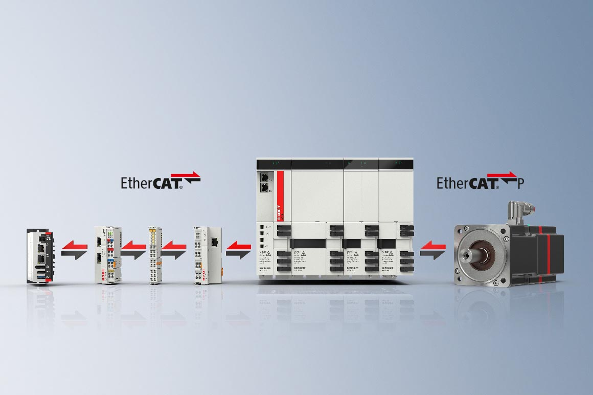 Due to its high speed and bandwidth, EtherCAT is ideally suited for mastering the complex processes in photovoltaic production machines and for the linking of production plants. The integration of existing machines is also very simple: Beckhoff offers numerous gateway solutions that enable older technologies to be integrated into the EtherCAT world.