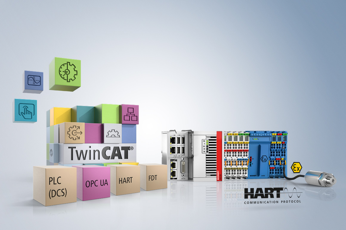 The comprehensive integration of the HART protocol in TwinCAT enables the functions from the engineering interface to be used.