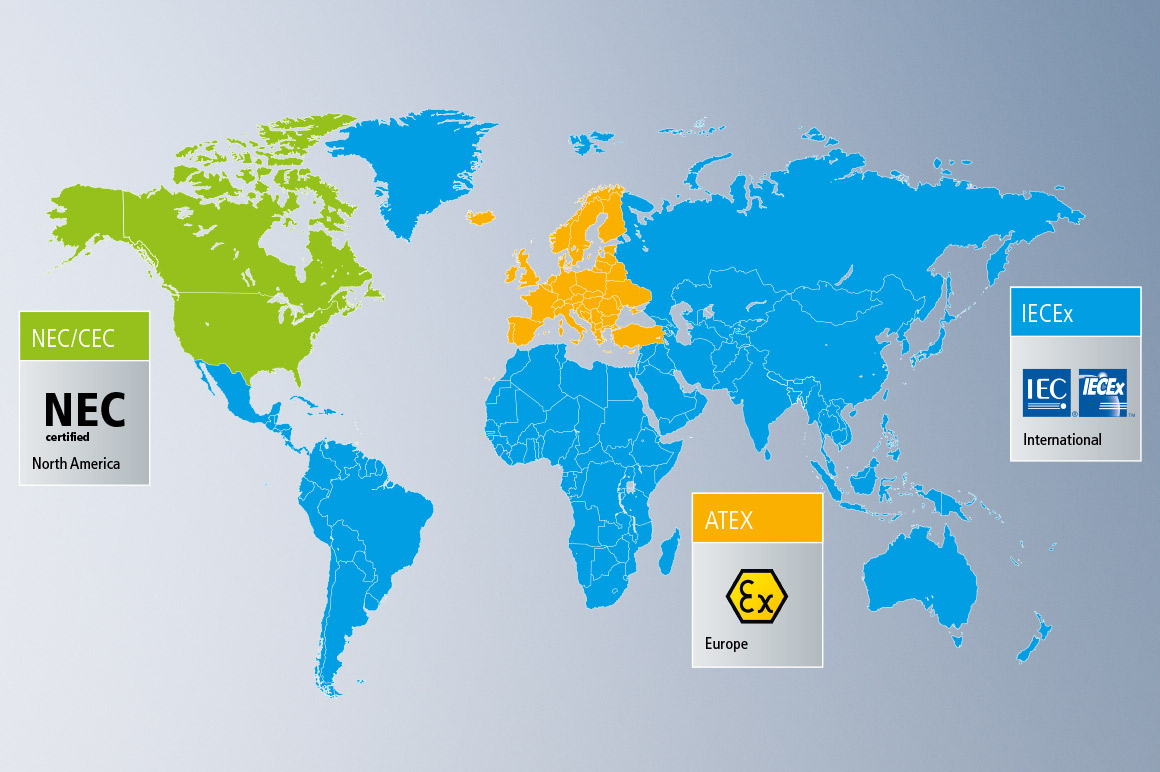 Worldwide guidelines and standards for the use of systems and equipment in hazardous areas.