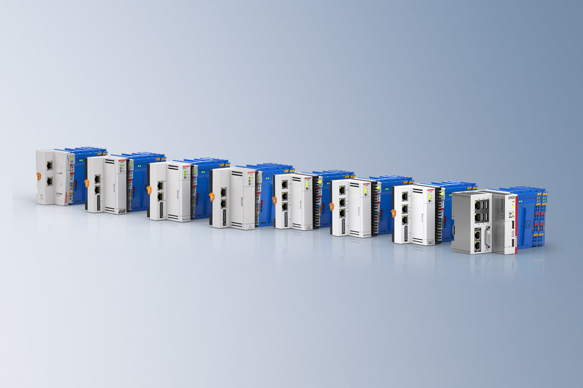 The Beckhoff components support various communication protocols such as EtherCAT, PROFINET, PROFIBUS, Modbus, EtherNet/IP, OPC UA and more. These standardized interfaces enable the integration of Beckhoff hardware into all industrial process control systems. The connection can be established either via appropriate fieldbus couplers or via embedded controllers from the CX series.