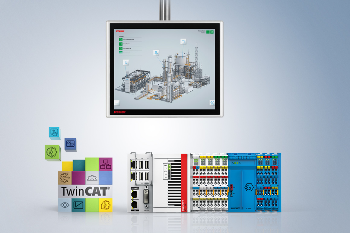 With a universal component construction kit and profound, cross-industry know-how, Beckhoff realizes open automation systems on the basis of PC-based control technology. For the process industry, a comprehensive portfolio of explosion-proof components is available for implementing integrated solution concepts for barrier-free communication from Zone 0 to the cloud.