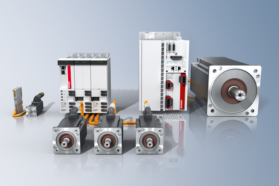 In combination with the motion control solutions of the TwinCAT automation software, the wide range of highly scalable drive components offers a complete drive system.