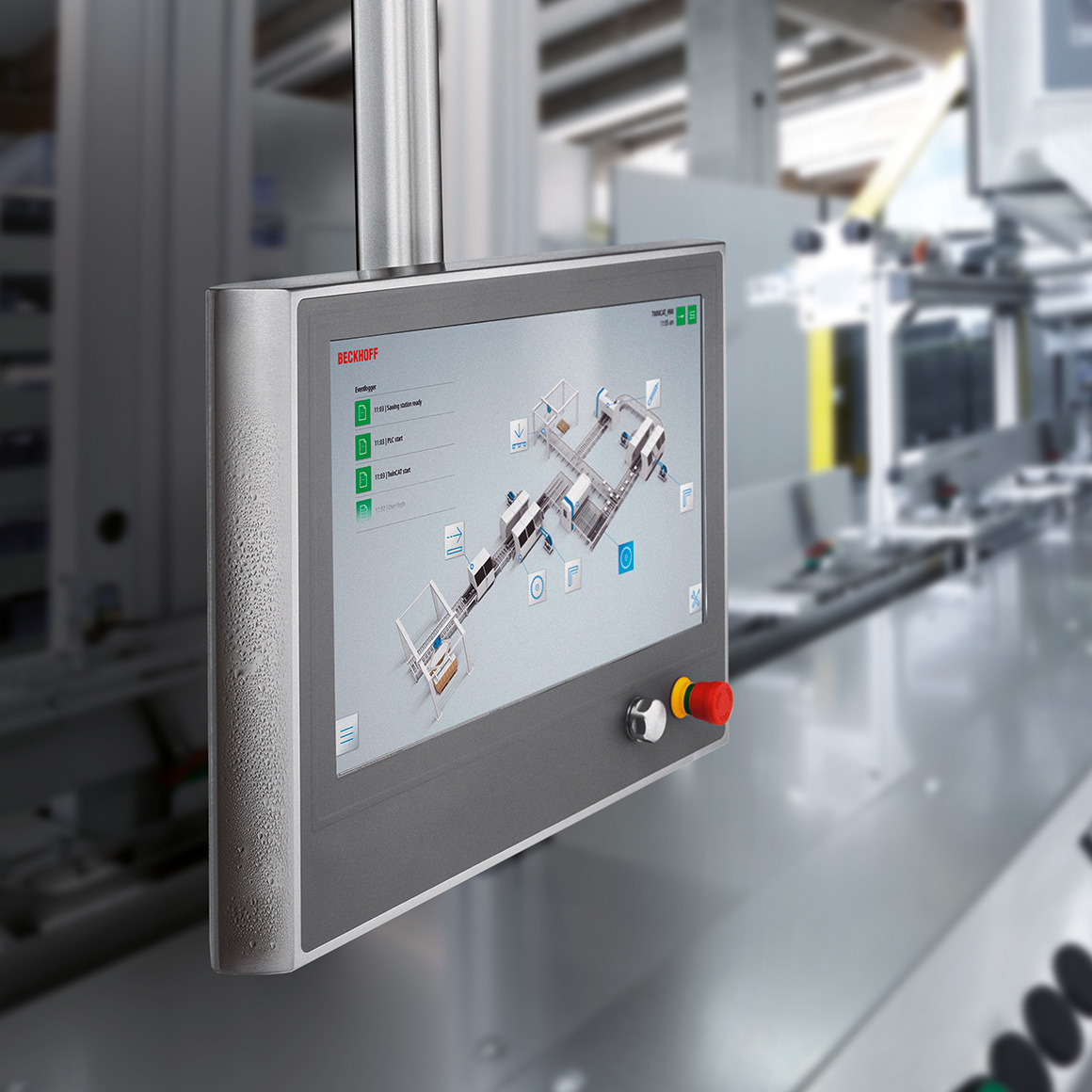 Control Panels in special stainless steel housings are used in the most demanding environments, such as the food, beverage and pharmaceutical industries.